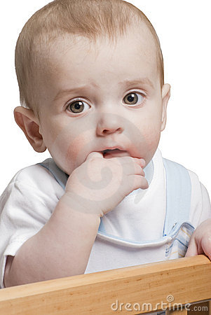 Child chew finger