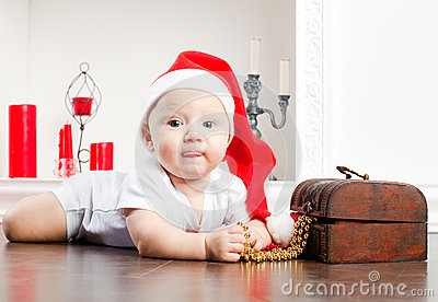 Child In Christmas Cap