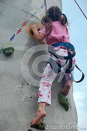 Free Child Climbing A Wall Stock Photo - 11419100