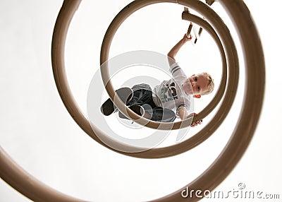 Child Climbing Playground
