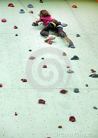 Free Child Climbing Up The Wall Stock Photography - 32508512