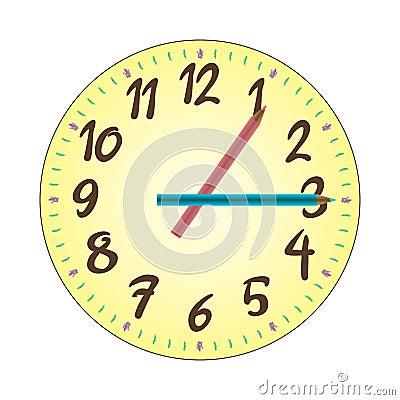 Child Clock Illustration