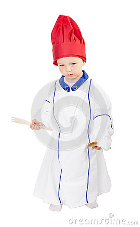 Child with cook chef uniform