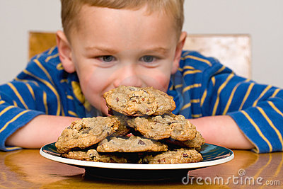 Child with cookies