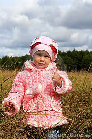 Child costs in a dry grass