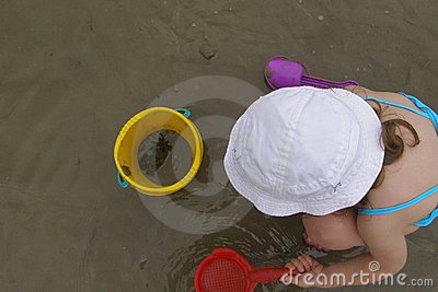 Child and crab