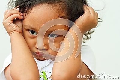 Child in cranky mood