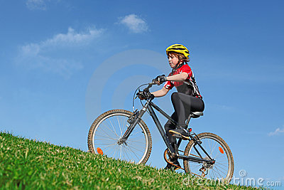 child cycling exercise on bike