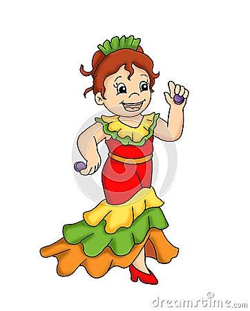 Child and dance flamenco