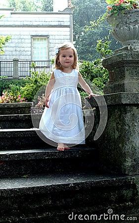Child Decending Stone Steps