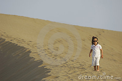 Child in desert