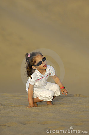 Child in desert