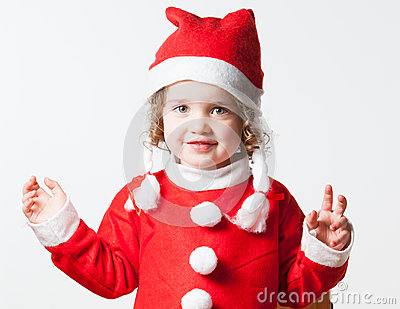 Child Dressed As Santa