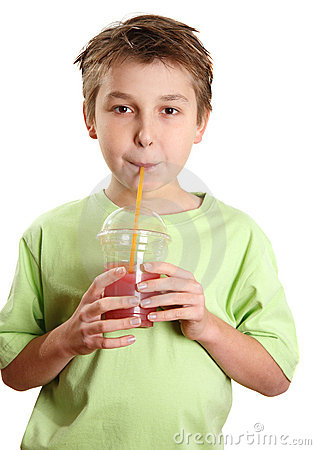 Free Child Drinking A Juice Royalty Free Stock Image - 11846826