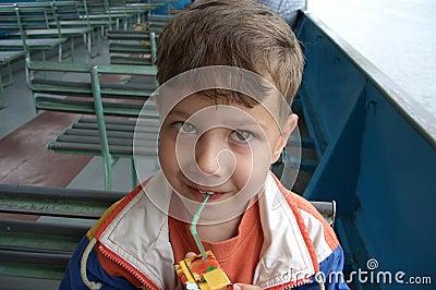 Child drinking a juice