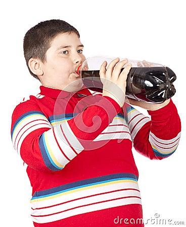 Free Child Drinking Soda Royalty Free Stock Image - 19029386
