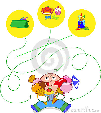 Child eating sweets - game