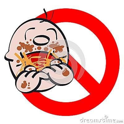 Child eats greedily