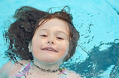 Child enjoying a swim