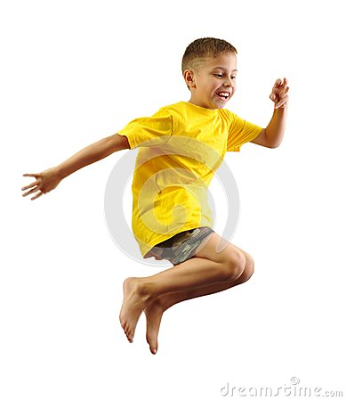 Free Child Exercising And Jumping Royalty Free Stock Photography - 44291257
