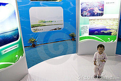 Child in exhibition Editorial Image