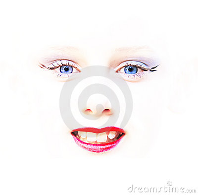 Child Face Eyes Mouth Abstract