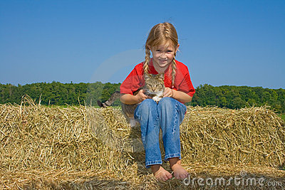 Child at farm.