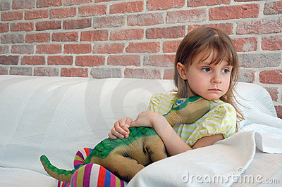 Child with a favourite toy