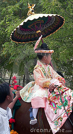 Child in Festival Procession