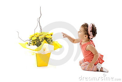 Child and Flower
