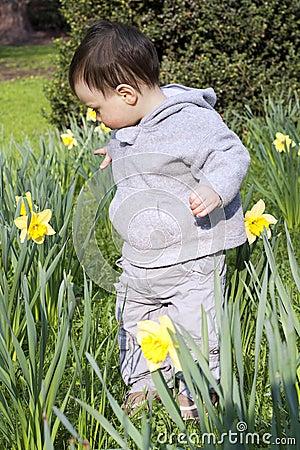 Child flower garden