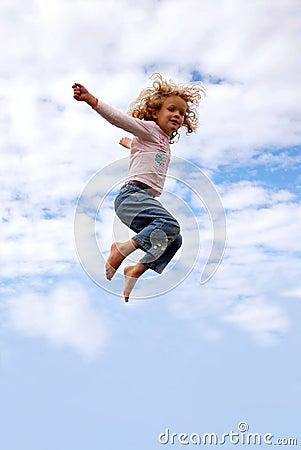 Child flying