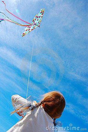 Free Child Flying A Kite Royalty Free Stock Photos - 11294358