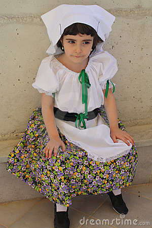 Child  in folk dress