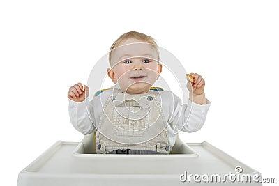 Child at food.