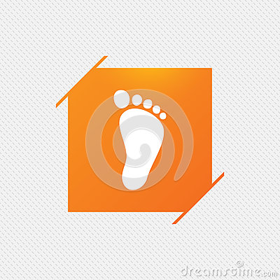 Free Child Footprint Sign Icon. Barefoot . Royalty Free Stock Photography - 83649317