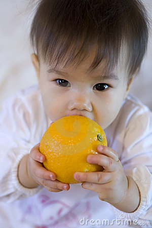 Child with fruit