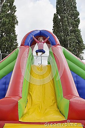 Child in fun park