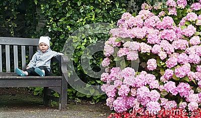 Child at garden
