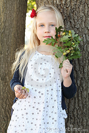 Child girl outdoors