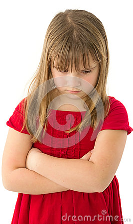Child girl sad and offended