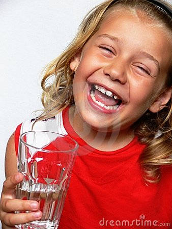Child with glass of water