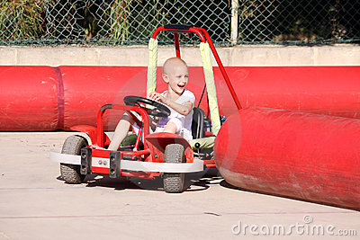 Child on go kart