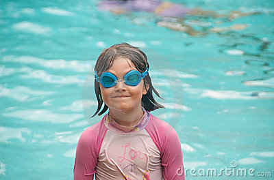 Child with goggles