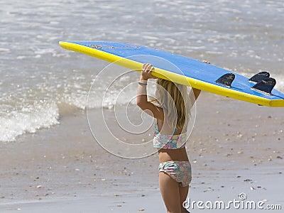 Child going Surfing