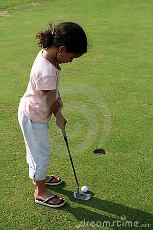 Child Golfing