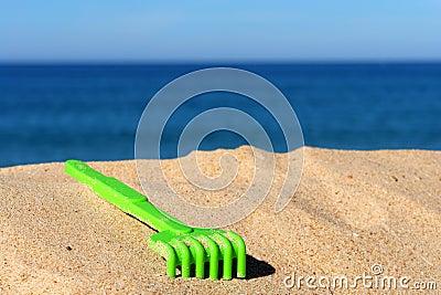 Child green toy