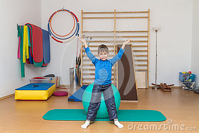 Child in the gym