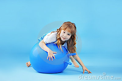 Child with gymnastic ball