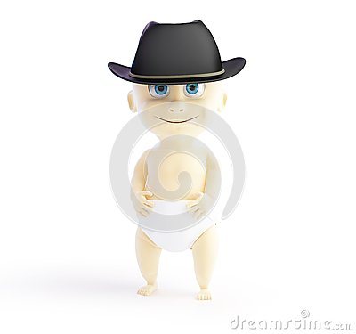 Child in a hat mafia